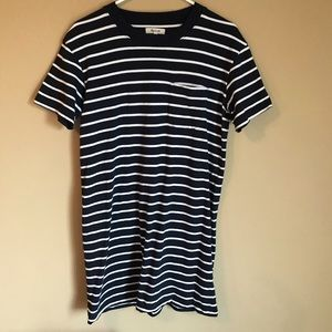 Madwell Navy and White Striped Dress